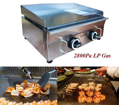 Intbuying Commercial Kitchen Countertop Flat Griddle Grill 2800pa Lp Gas