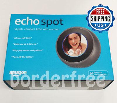 Amazon Echo Spot Smart Assistant   Black   Brand New Retail Box