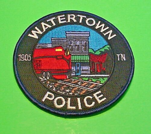 "WATERTOWN TENNESSEE TN  TRAIN  4""  POLICE PATCH   FREE SHIPPING!!!"
