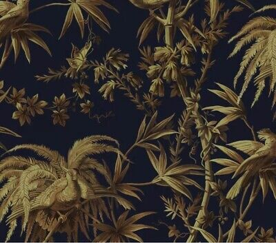 Gorgeous House of Hackney Wallpaper Aurora Black & Gold Pearlised £195 NEW