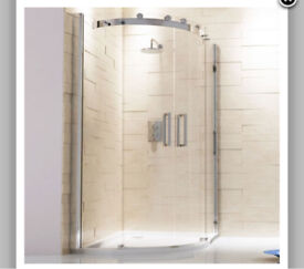 Capua 1200x800mm Sliding Door Offset Quadrant Shower Enclosure