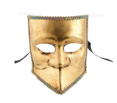Mask from Venice Bauta Golden - Mask Venetian Authentic Made in Italy 20