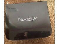 NEW Eduardo Verde 6x Necklace Pendant & Earring Presentation Set Box Gold Silver brand new