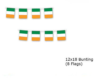 Ireland Irish 12x18 Rough Tex Knitted Bunting String Flag Banner (8 - Irish Flag Bunting