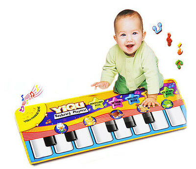 New Musical Music Kid Piano Play Baby Mat Animal Educational Soft Kick Toy Gift