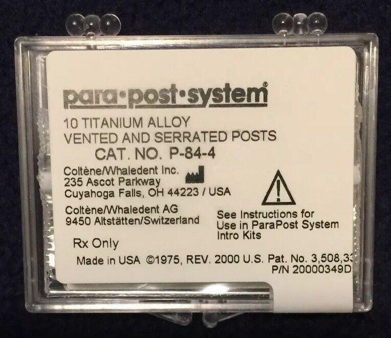 """PARA POST  Titanium Vented & Serrated Posts .04"""" 10/pack.  P-84-4"""