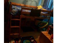 Pine sleeper bed