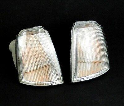 RENAULT 19 1992-1995 PAIR FRONT INDICATORS REPEATERS CLEAR LAMP LIGHT LENS LH+RH