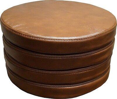 Runde Braun Sitzkissen Echt Lederkissen Sitzpolster Sessel Stuhle Bar Hocker  ()