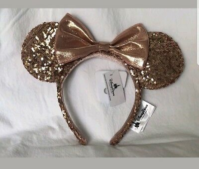 Disney Mouse Ears Headband (Disney Parks Rose Gold Minnie Mouse Ears Headband Discontinued! - New with)