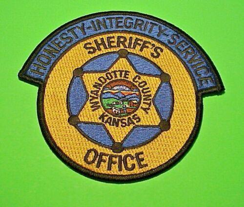 "WYANDOTTE COUNTY  KANSAS KS  4 1/4""  POLICE PATCH   FREE SHIPPING!!!"