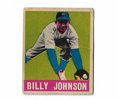 1948 Leaf Billy Johnson Baseball Card New York Yankees F/G Tickets Giants Ofr - $20.00