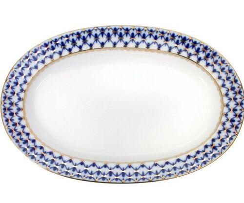 Cobalt Net Plate Serving Dish by Russian Imperial Porcelain LFZ Lomonosov