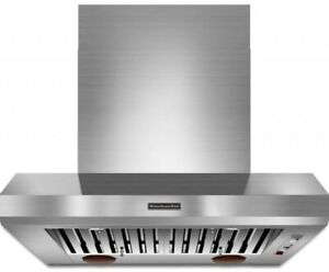 """KitchenAid KXW9736YSS 36"""" Commercial-Style Wall-Mount Canopy Hoo"""