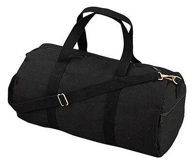 Duffle Bag - Canvas Shoulder, Black by Rothco