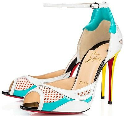 New Christian Louboutin Discodeporte 100 Red Sole Pumps Sandals Shoe Sz 36 5 6 5