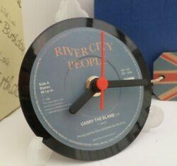 *new* RIVER CITY PEOPLE (band) CLOCK Actual VINYL RECORD