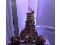 Wedding cake stand and crate