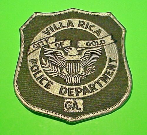 """VILLA RICA GEORGIA GA SUBDUED CITY OF GOLD  4 1/2"""" POLICE PATCH  FREE SHIPPING!"""