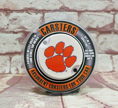 University of Clemson Tigers Carsters 2pk Thirstystone Car Cup Holder Coaster