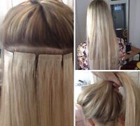 Tape-in hair extensions and removal. New client special!