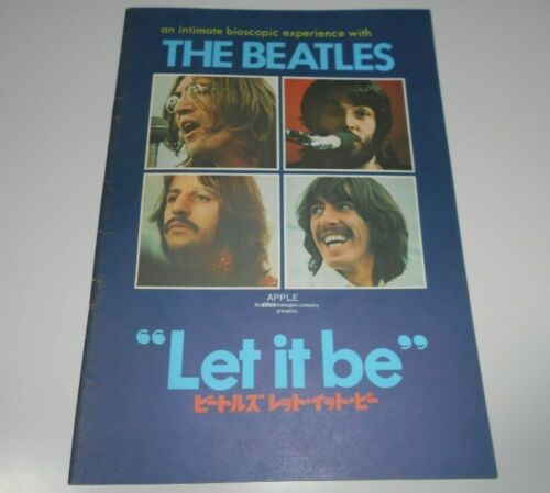 THE BEATLES LET IT BE Japan Pamphlet 1970 John Lennon Paul McCartney Ringo Star