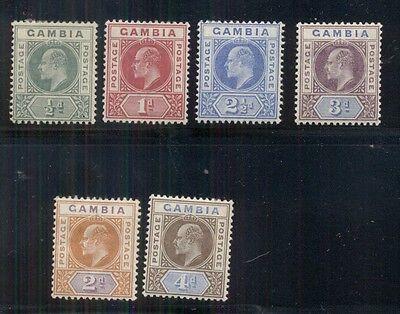 GAMBIA #28-33 Mint Hinged, Scott $111.00