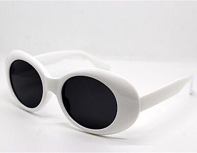 Sonnenbrille Frauen Männer Runde Oval Groß Weiß Stile Kurt Cobain Retro