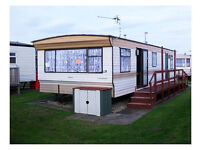 A very comfortable 6 berth holiday caravan in Chapel St Leonards, close to the beach.