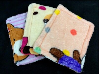 2 X Washable Soft Fabric Cage Pad Bed Sugar Glider Rabbit Guinea Pig Small Pet S (Sugar Glider Pads)