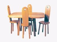 ENGLISH ASH TABLE AND 4 CHAIRS