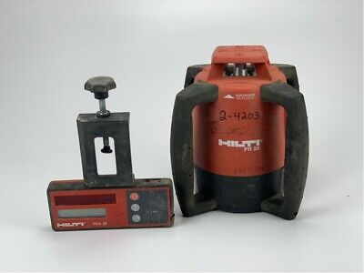 Used Hilti Pr 20 Rotating Laser W Case And Pra 20 Receiver