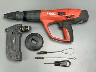 Hilti Dx 460 Concrete Nailer Powder Actuated Gun Wmx 72 And Hard Case