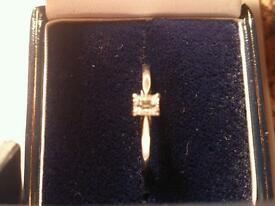 Mint condition platinum diamond ring.