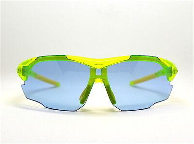 Sonnenbrillen Männer Sport Radfahren Mountainbike Grün Neon Objektiv Blau