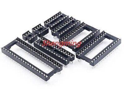 10pcs Ic Socket 8 14 16 18 20 24 28 40 Pin Dip8 Dip14 Dip16 Connector