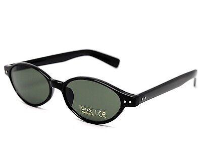 Sonnenbrille Mann Frau Oval Runde Schwarz Grün G15 Vintage 90 Klassisch