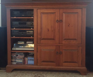 Solid pine tv/stereo cabinet