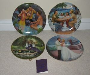 Collection of 4 assorted Collector Plates