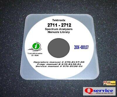 Tektronix Tek 2711 2712 Service Oprs Progr Manuals Cd With A3 Diagrams