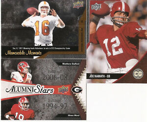 2014 Upper Deck Football Conference Greats - 77 Different Cards