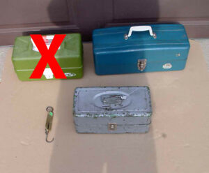 Vintage Fishing Tackle Boxes (2 available)