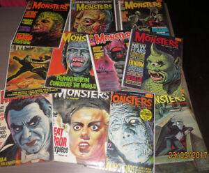 MAGAZINES FAMOUS MONSTERS - FANGORIA - MAD MOVIES