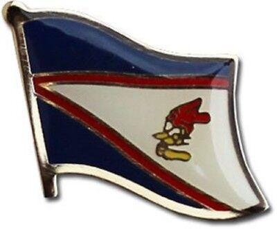 (AMERICAN SAMOA  HAT LAPEL FLAG PIN  - NEW)