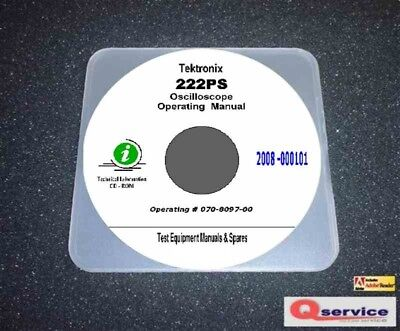 Tektronix 222ps Digital Oscilloscope Operating Rs232 Interfacing Manuals Cd