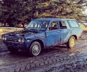 **1972 DATSUN 510 WAGON PROJECT RUNS AND DRIVES FOR SALE/TRADE**