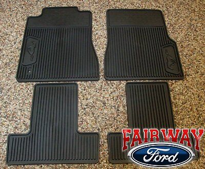 05 06 07 08 09 Mustang OEM Ford Black Rubber All Weather Floor Mat Set 4-pc NEW