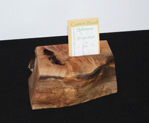 Maple Wood Desktop Business or Other Card Holder - Vertical Comox / Courtenay / Cumberland Comox Valley Area image 3