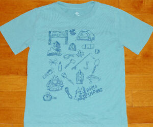 ~ Boys Size Small 5/6 Years ~ Roots Camping Tee