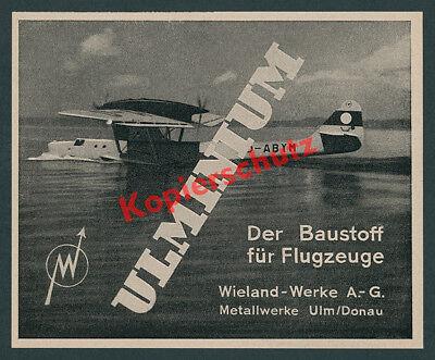 Wieland-Werke Ulm Ulminium Luftfahrt Dornier Flugboot Do 18 D-ABYM Lufthansa ´40